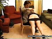 Mature lesbian bitch is spanking her victim girl
