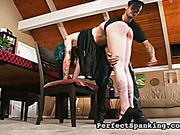 Rocking slut likes practicing hot spanking with master