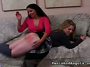 Poor blonde has ass red after harsh spanking