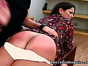 Lady boss spanked her secretary rough and tough