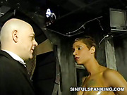 Humiliation and pain from sexy mistress