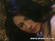 Hot spanking and abusing games of two lesbians