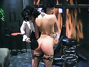 Hard hand spanking and  paddling from mistress
