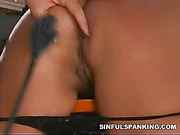 Blonde abused and punished her sex slavegirl