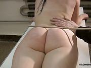 Spanker in mask paddled and caned victim girl