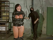 Sensitive mummified body of MILF spanked rough