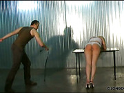 Tender blonde is punished in hard way
