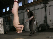 Head down suspended chick got harsh whipping