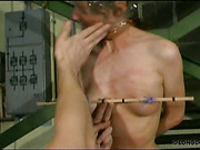 Babe got nipples pinching and bullwhipping