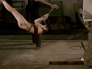 Bound in human bridge brunette got tough whipping