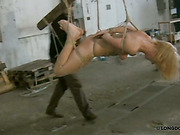 Young whore got extreme bondage and whipping