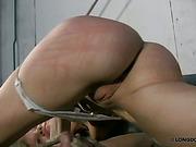 Perverted dude bullwhipped cute tiny ass