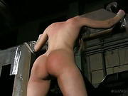 Nude bound blonde got body bullwhipping