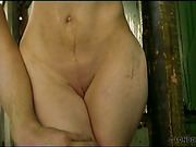Teen tits and pussy of babe were whipped
