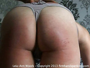 Harsh hairbrush spanking for poor housewife