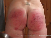 OTK spanking scene with mature sluts in glasses