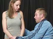 Sadistic guy spanked and abused mature slut
