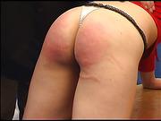 Big ass got swollen after harsh caning set