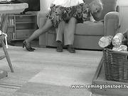 Elderly woman got OTK spanking after work