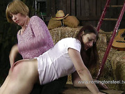Mature lesbian perverts like whipping and OTK spanking