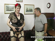 Mature whore took strapping, paddling and spanking