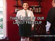 Headmaster spanked mature whore in schoolgirl uniform