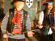 Pirate spanks a bad girl