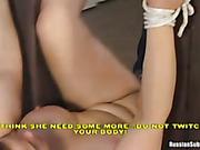 A plump turned into a fuck slave