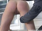 Busty brunette  flogging