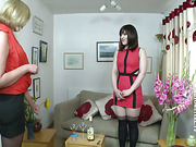 Mature wench spanked