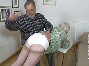 Daddy spanked two tarts