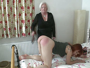 Grandmother punished slut