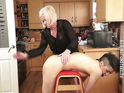 Punk chick spanked