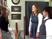 The leaving day spanking