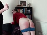 Landlady spanked