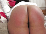 Chubby asian was caned