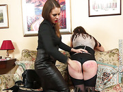 Chubby gets harsh spanked
