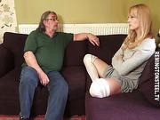 MILF blonde wife spanked