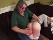 MILF blonde wife spanked