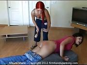 Bath-brush spanking