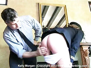200-smack bare bottom spanking for Kelly Morgan after a