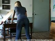 Belinda Lawson in the Principal's Office for profanity