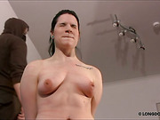 Lussy in servitude for hard breast whipping