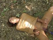 Freya's bandaged body got dildo fucked