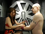 Oriental Spanks Her Partner