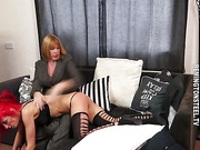 First that babe is spanked on her diminutive bar bottom