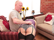 Honesty receives her 1st smack of a real hard spanking