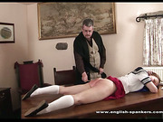 Kami as a Japanese schoolgirl acquires spanked