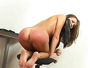 Castigation in the office chair