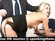 Spanked and nipple-clamped
